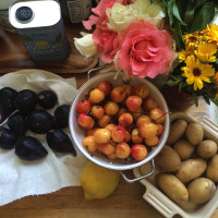 Cherries and figs and all of the gorgeous summer produce flooding the Farmers' Markets these days.